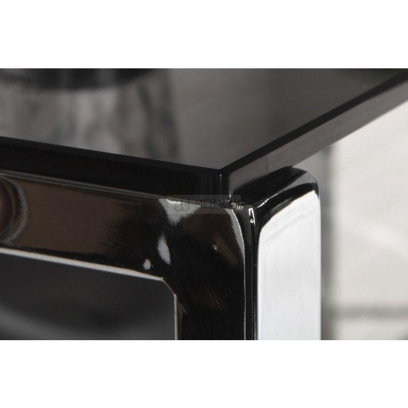 Biurko narożne BIG DEAL czarne - szkło, metal